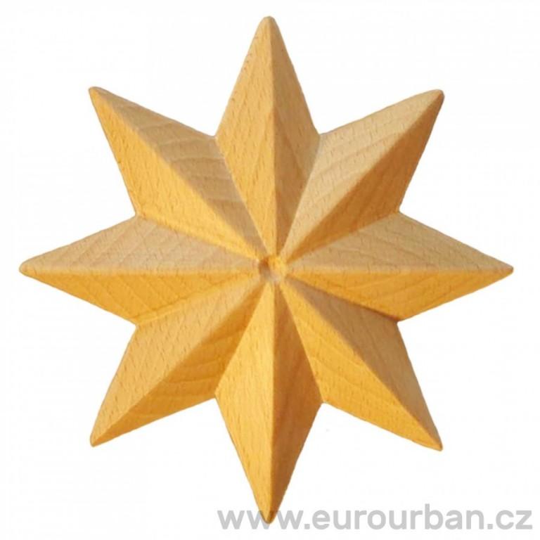 Dřevěná osmicípá ozdobná hvězda - vyřezávaná RR74/A