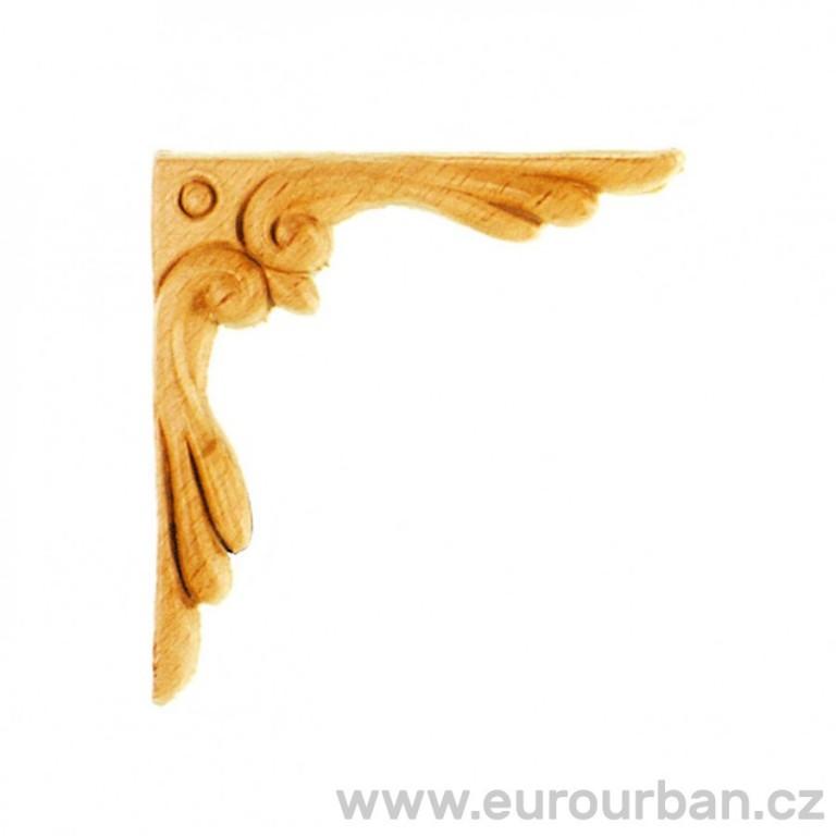 Dřevěná vyřezávaná ozdoba na roh ES141