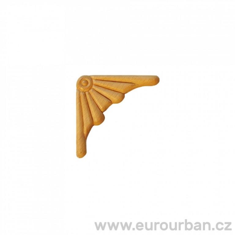 Vyřezávaná dřevěná ozdoba na roh ES153