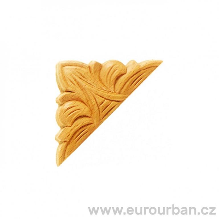 Dřevěný ozdobný roh - vyřezávaný ES148