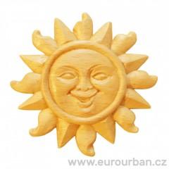 Dřevěná vyřezávaná ozdoba slunce - RR79