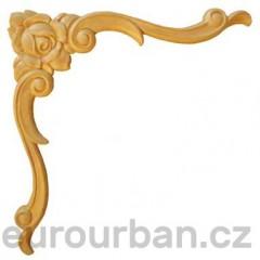 Ozdobná dřevěná řezba na roh ES155