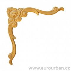 Dřevěná řezba na roh - ozdobná ES154