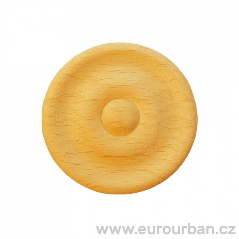 Dřevěná kulatá rozeta - vyřezávaná ozdoba RR54