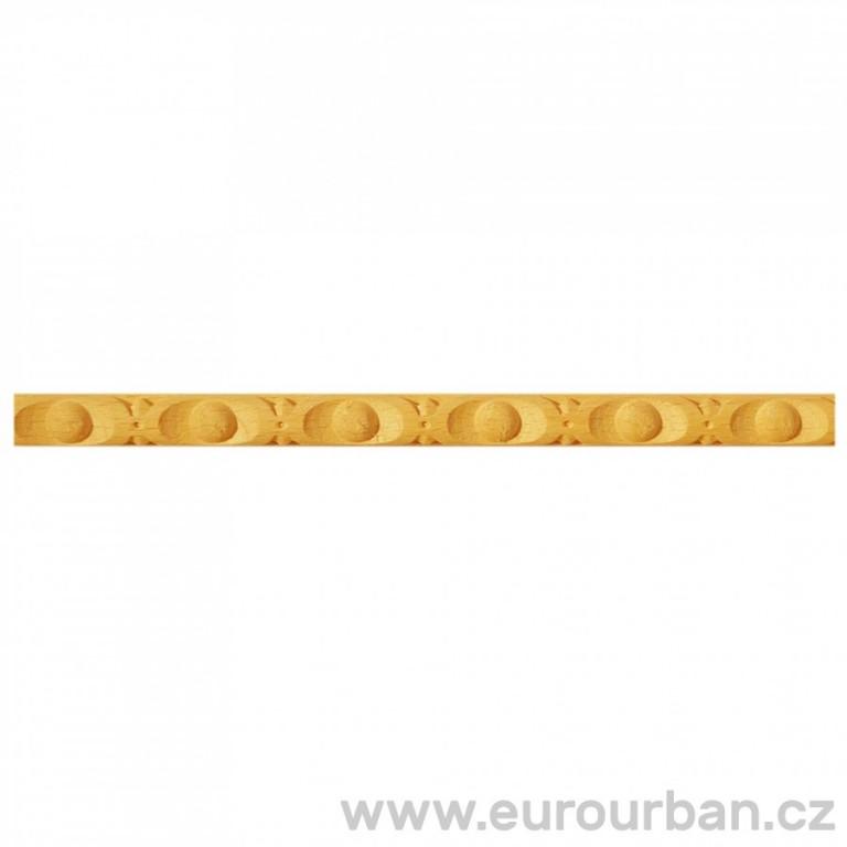 Lišta z bukového dřeva s drobným vzorem 1205