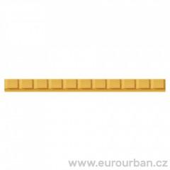 Dřevěná lišta s jemným krychlovým vzorem 1234