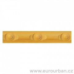 Dřevěná lišta s kružnicovým vzorem 1243