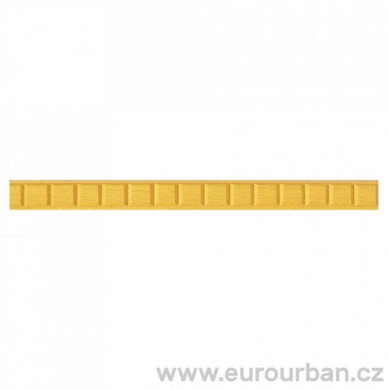 Dřevěná lišta s krychlovým vzorem 1255